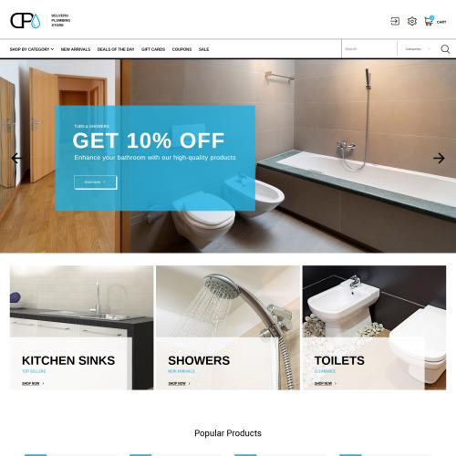 Delvero Plumbing - Responsive PrestaShop Template