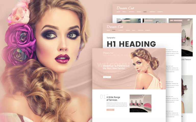 DreamCut WordPress Theme New Screenshots BIG