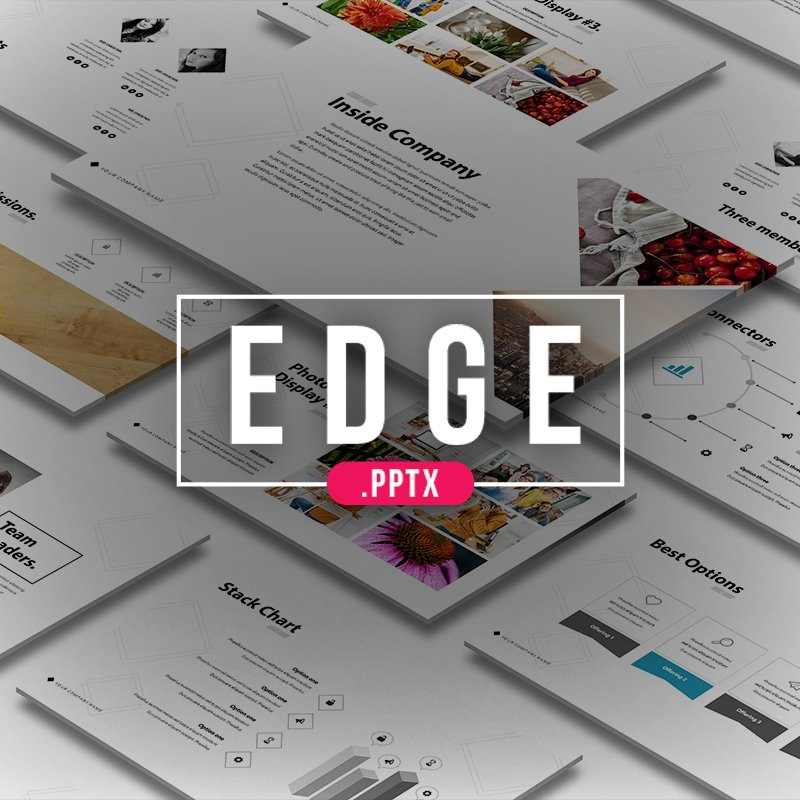 Edge PowerPoint sablon 64015