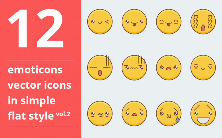 Emotions vector vol.2 Iconset Template Big Screenshot