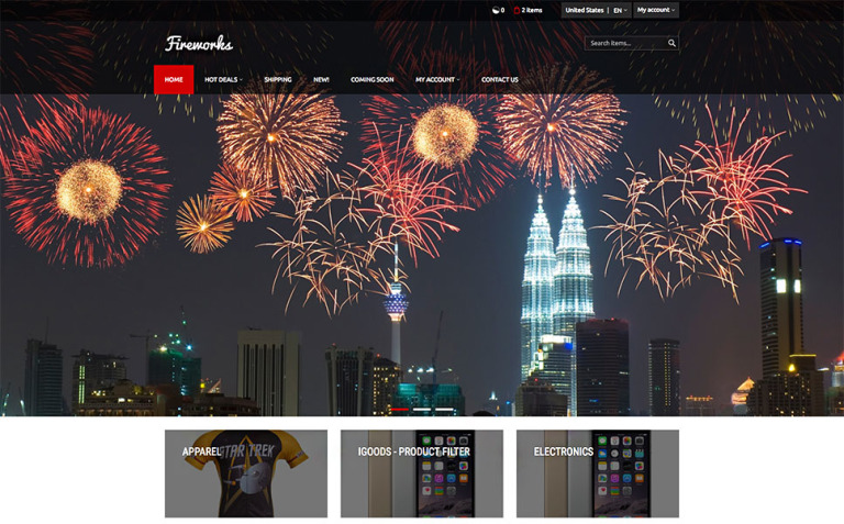 Fireworks X-Cart Template New Screenshots BIG