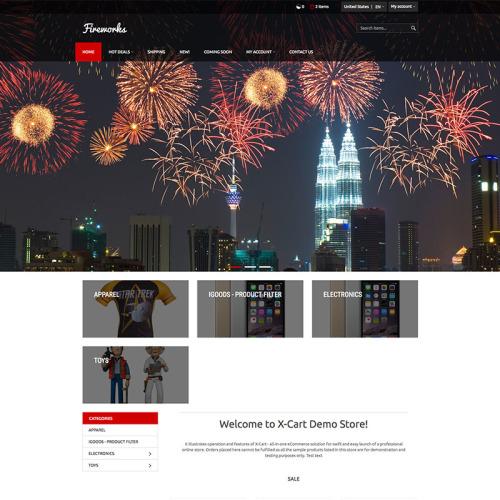 Fireworks - Responsive X-Cart Template