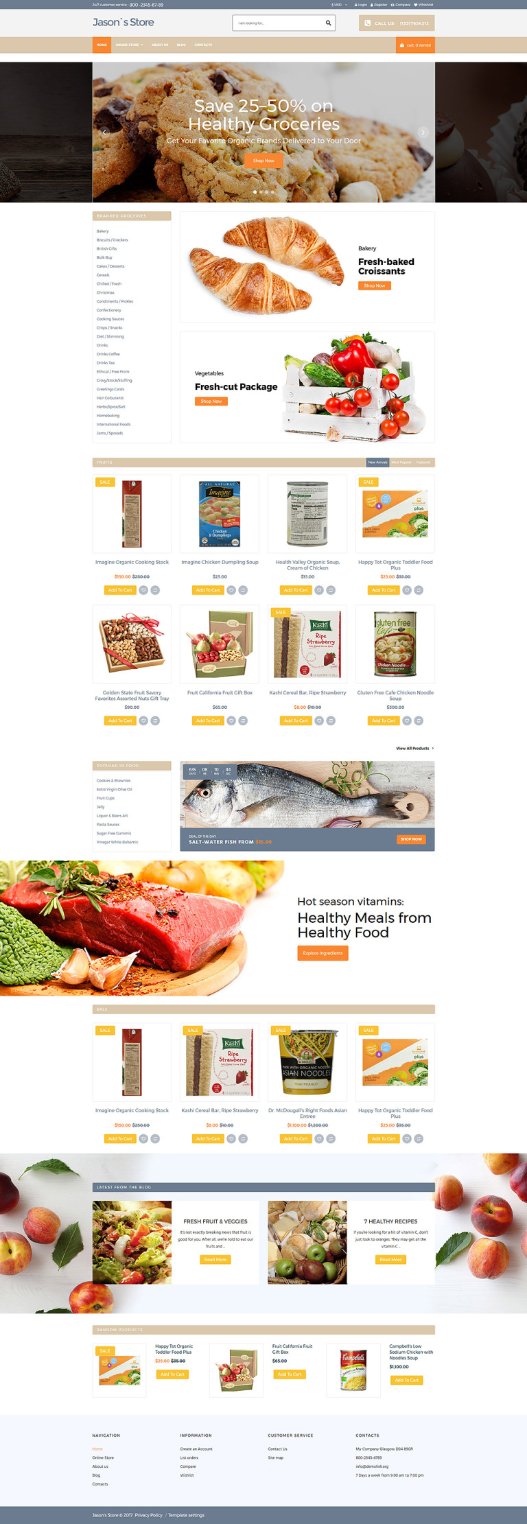 Grocery Store Responsive VirtueMart Template New Screenshots BIG