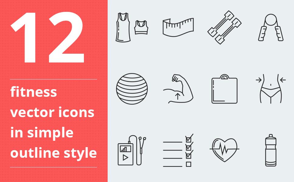 """Icon-Sammlungen Vorlage namens """"Fitness vector"""" #64090"""