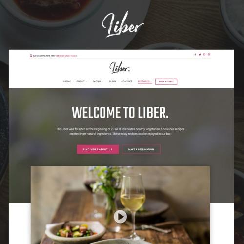 Liber - Responsive WordPress Template