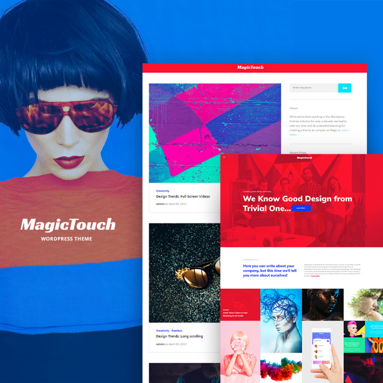 MagicTouch - Web Design Studio Responsive WordPress Theme New Screenshots BIG