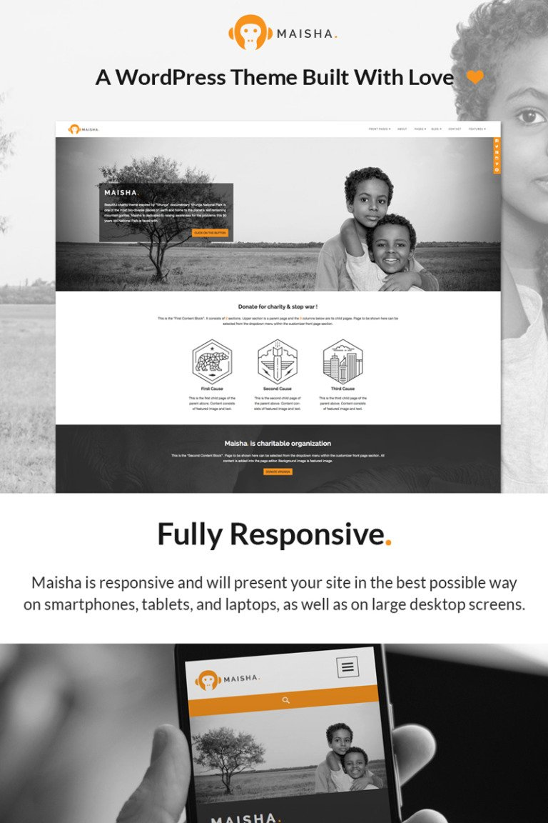Maisha - Charity/Non-Profit WordPress Theme Big Screenshot