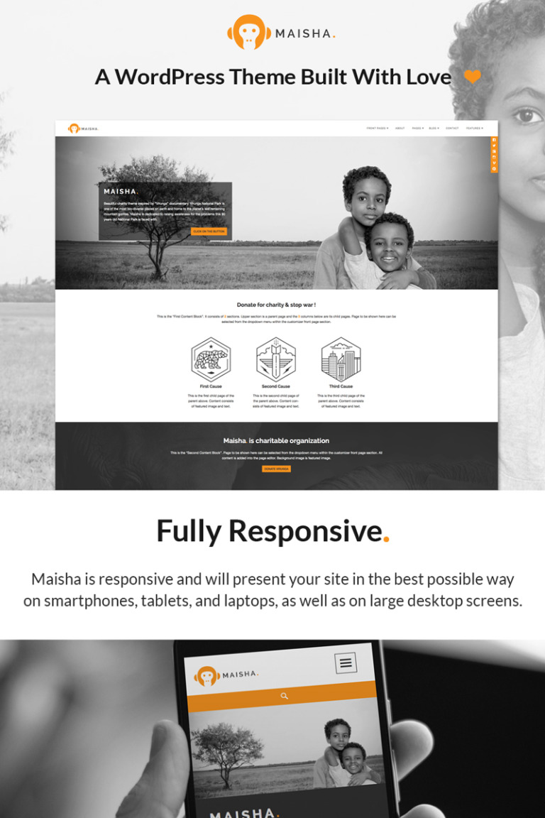 Maisha - Charity/Non-Profit WordPress Theme Big Screenshot