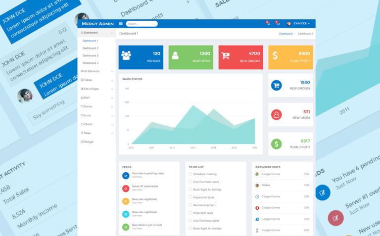 Mercy - Dashboard Admin Template New Screenshots BIG