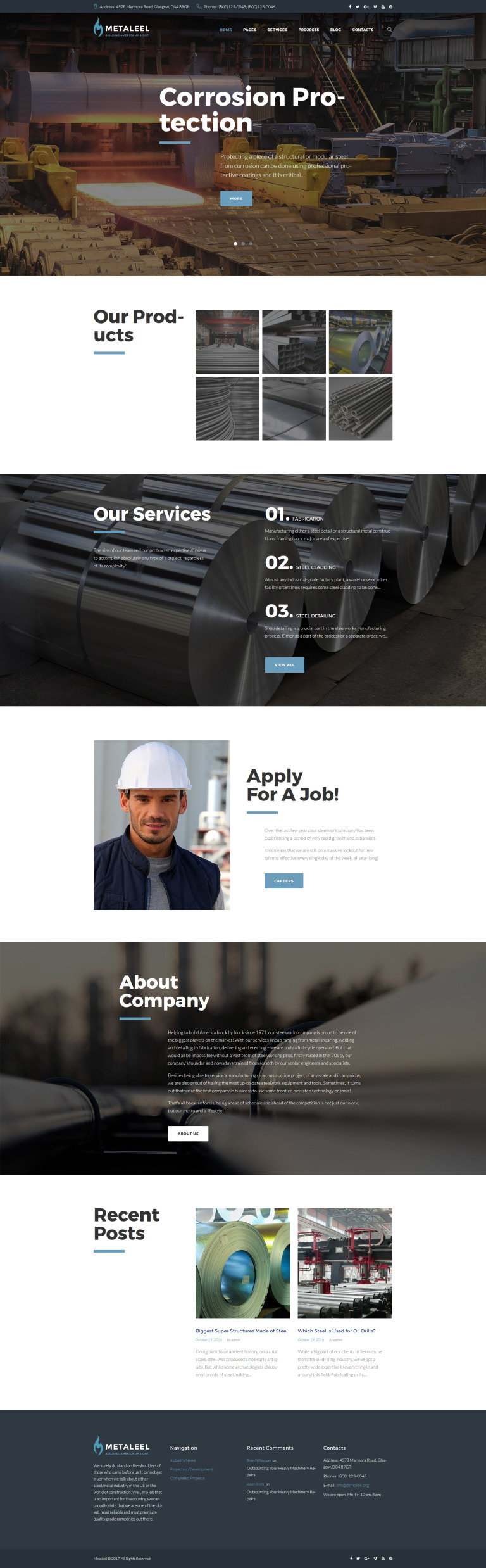 Metaleel WordPress Theme New Screenshots BIG