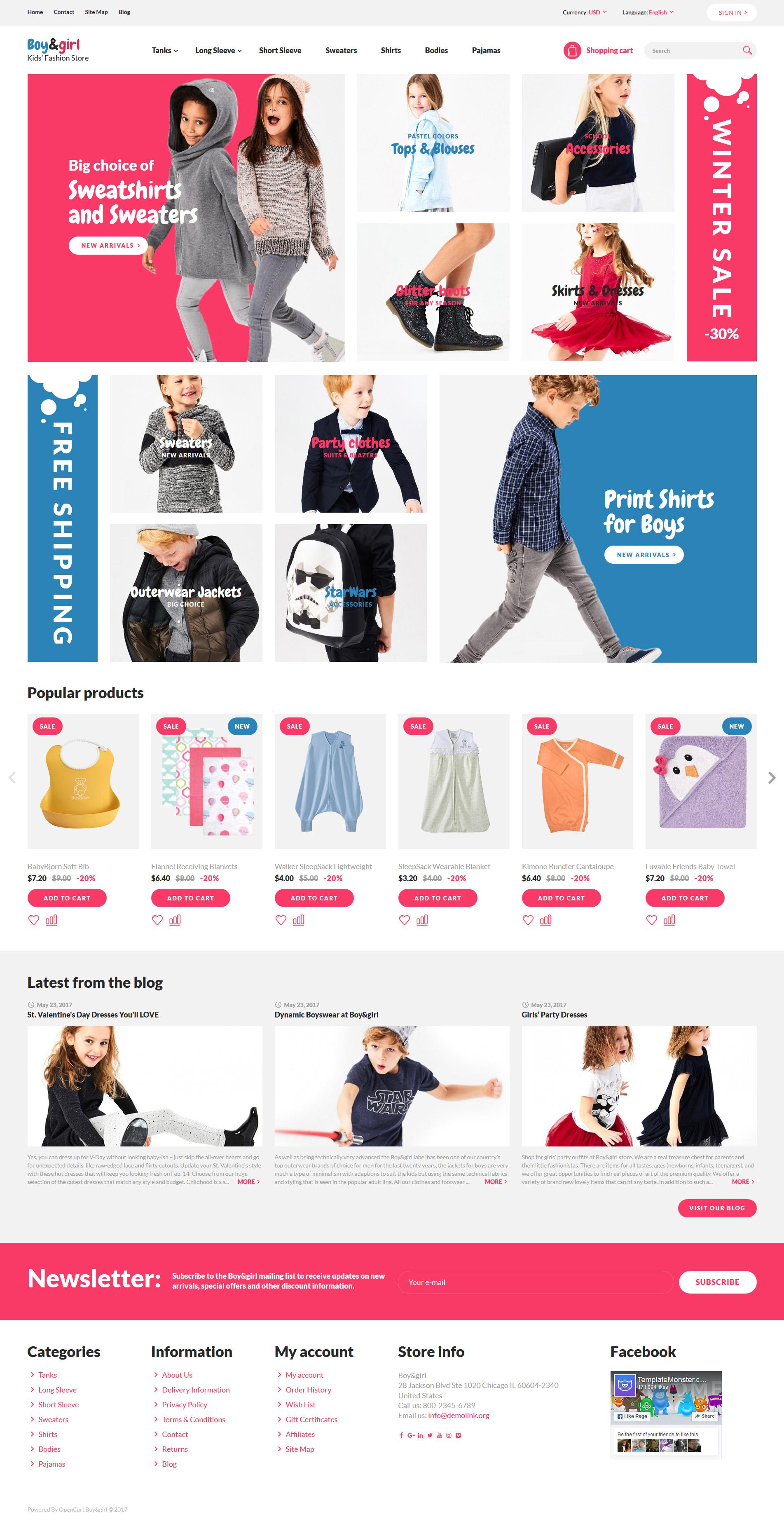 Modello OpenCart Responsive #64034 per Un Sito di Fashion Store - screenshot