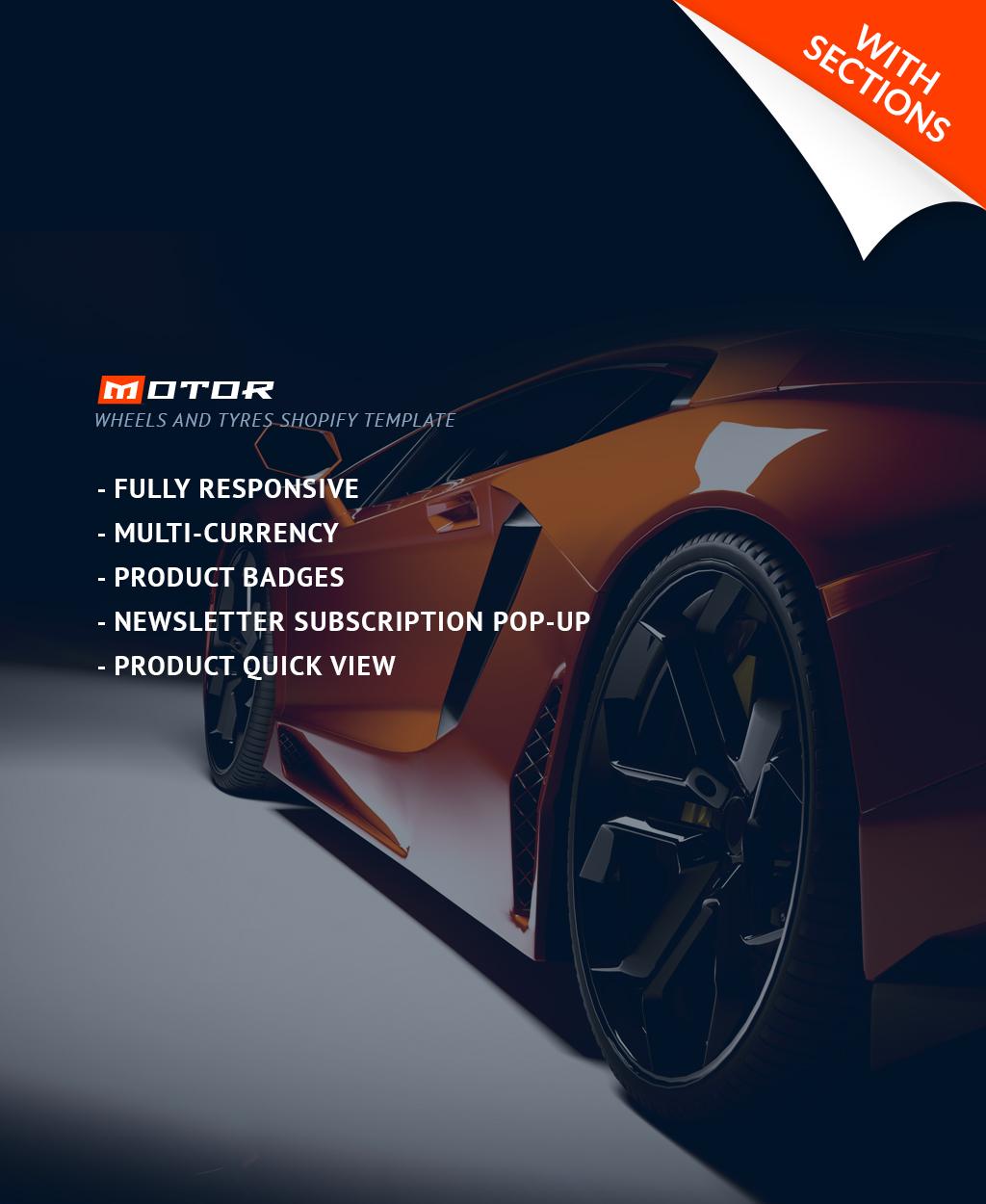 Modello Shopify Responsive #64055 per Un Sito di Ruote e Pneumatici