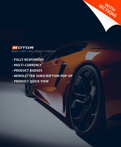 Wheels & Tires Responsive Tema Shopify
