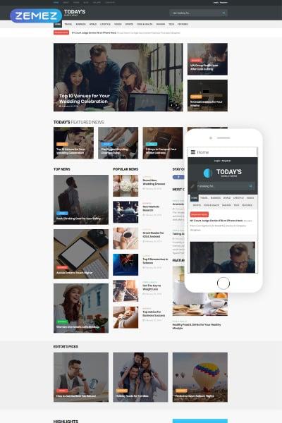 News Portal Responsive Joomla Template #64017