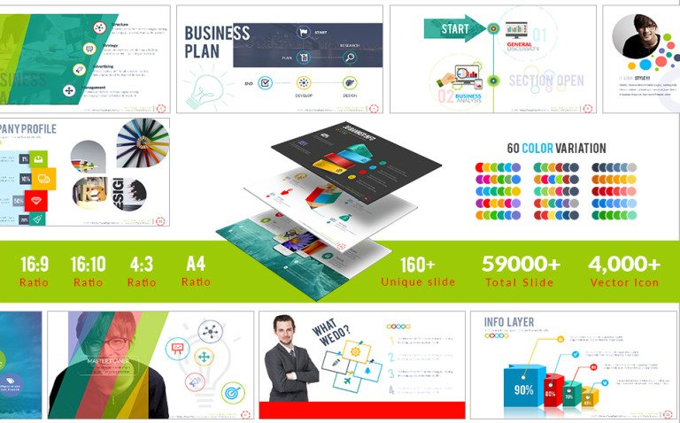 Perfect PowerPoint Template New Screenshots BIG