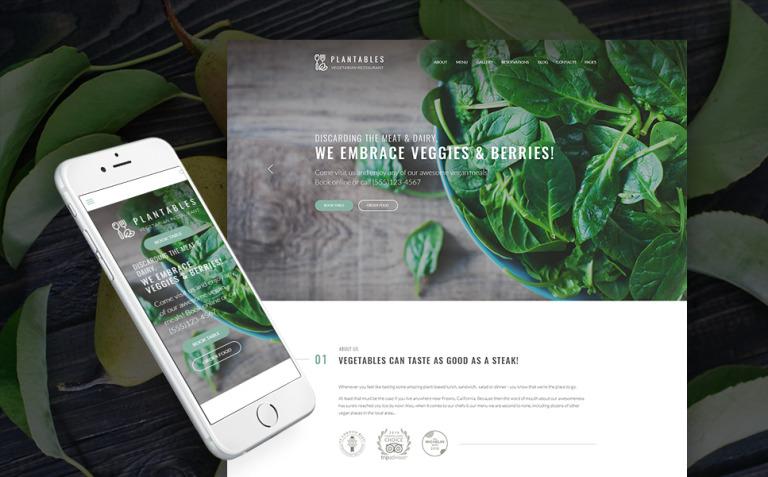 Plantables - Vegetarian Restaurant WordPress Theme New Screenshots BIG
