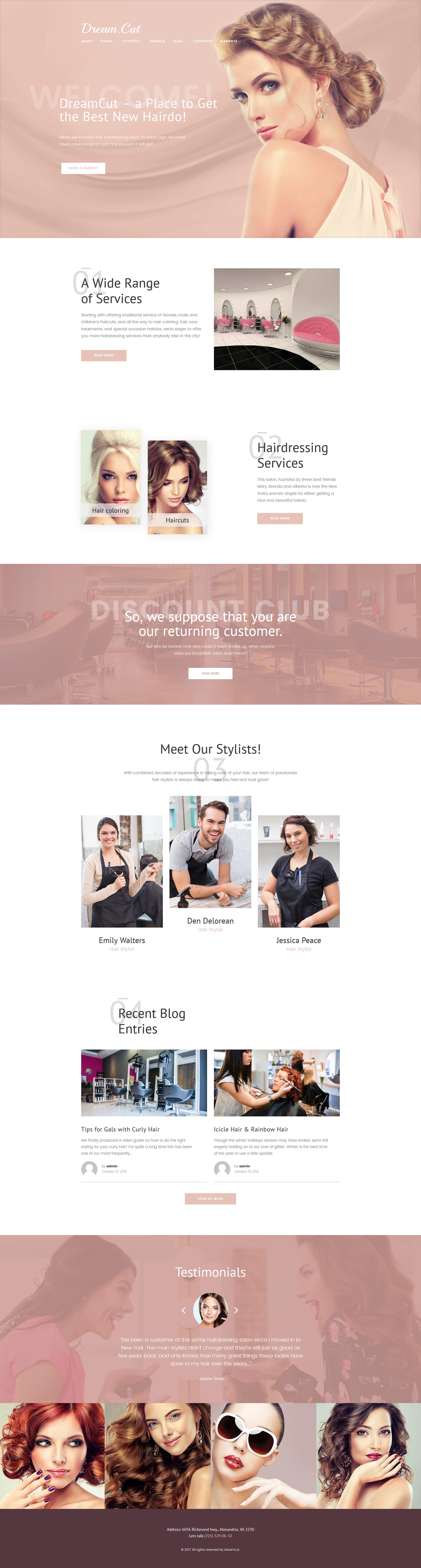 Responsive DreamCut Wordpress #64062
