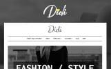 Responsive Moda Bloğu  Wordpress Teması