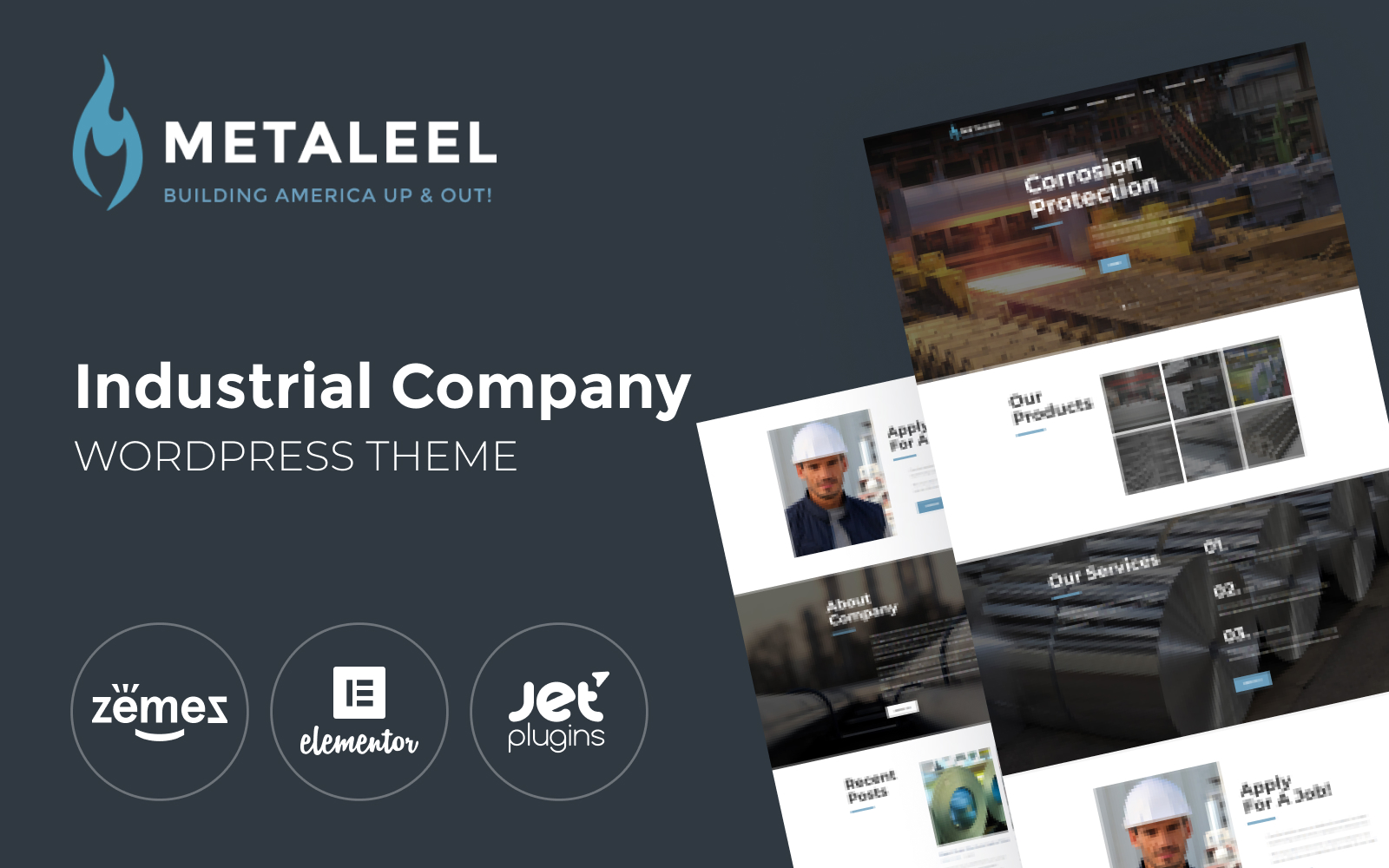 Responsivt Metaleel WordPress-tema #64053