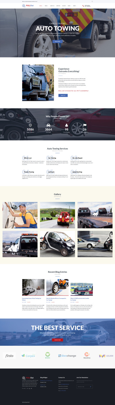 Auto Towing Responsive WordPress Motiv