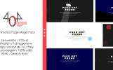 Reszponzív 404 - Animated Page Mega Pack Weboldal sablon