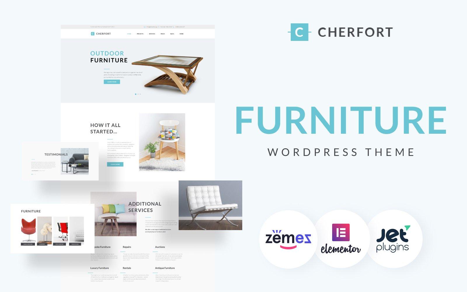 Reszponzív Cherfort - Furniture Company Responsive WordPress sablon 64097