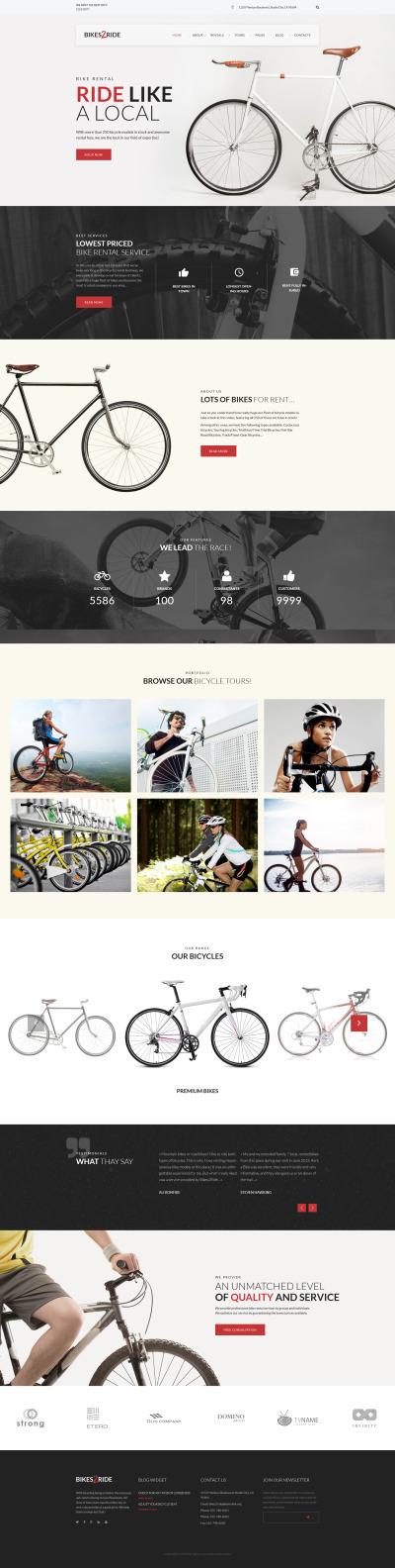 Cycling Responsive WordPress Sablon