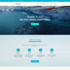 fly fishing wordpress templates template monster