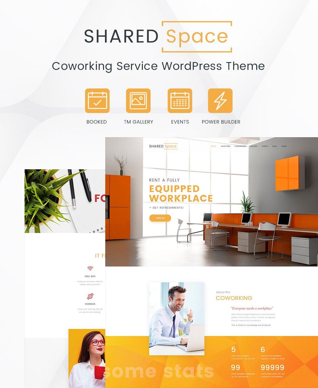 """""""SharedSpace"""" Responsive WordPress thema №64066 - screenshot"""
