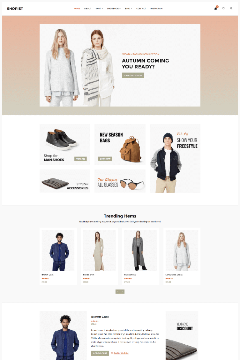 Shopist - Responsive Stylish eCommerce WooCommerce Theme Big Screenshot