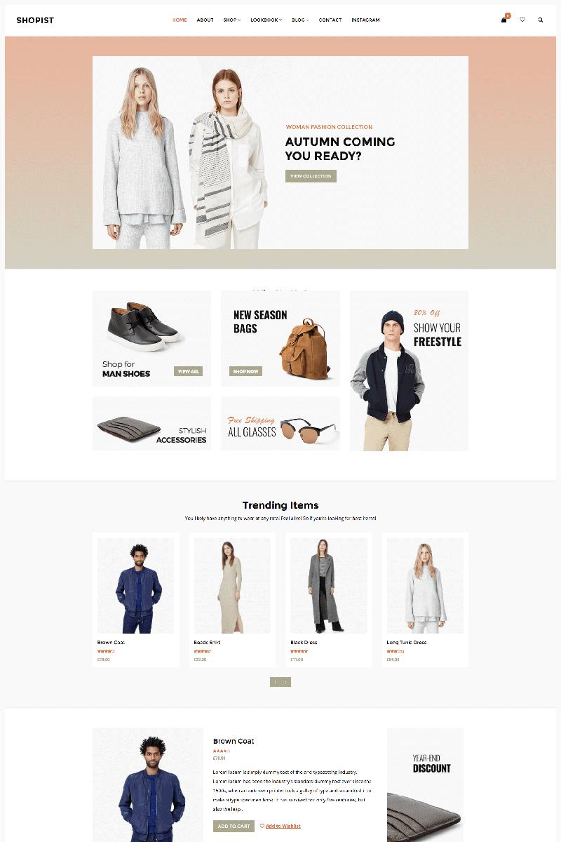 Shopist - Responsive Stylish eCommerce WooCommerce Theme - screenshot