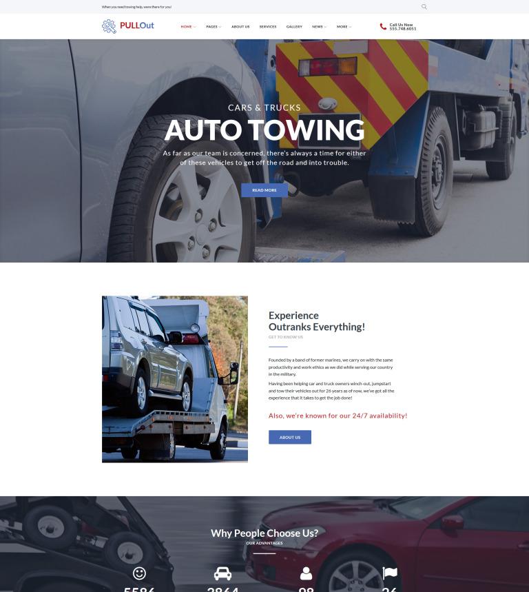 Tema de WordPress #64024 para Sitio de Remolque de autos