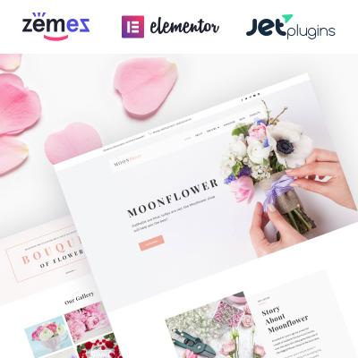 Tema de WordPress #64080 para Sitio de Tienda de Flores