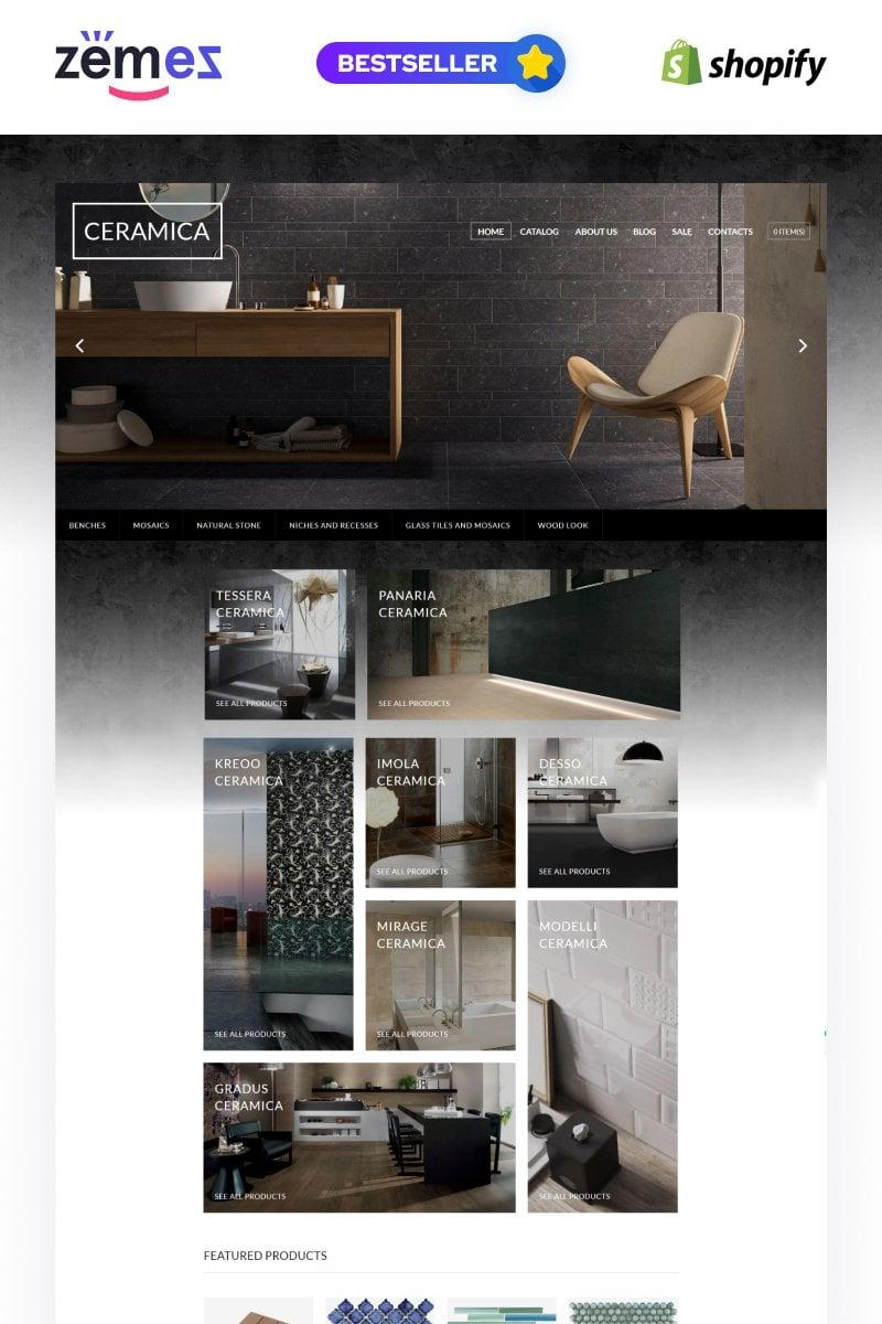 "Tema Shopify ""Tile Stone Responsive"" #64027"