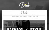 Tema WordPress Flexível para Sites de Blog de Moda №64081