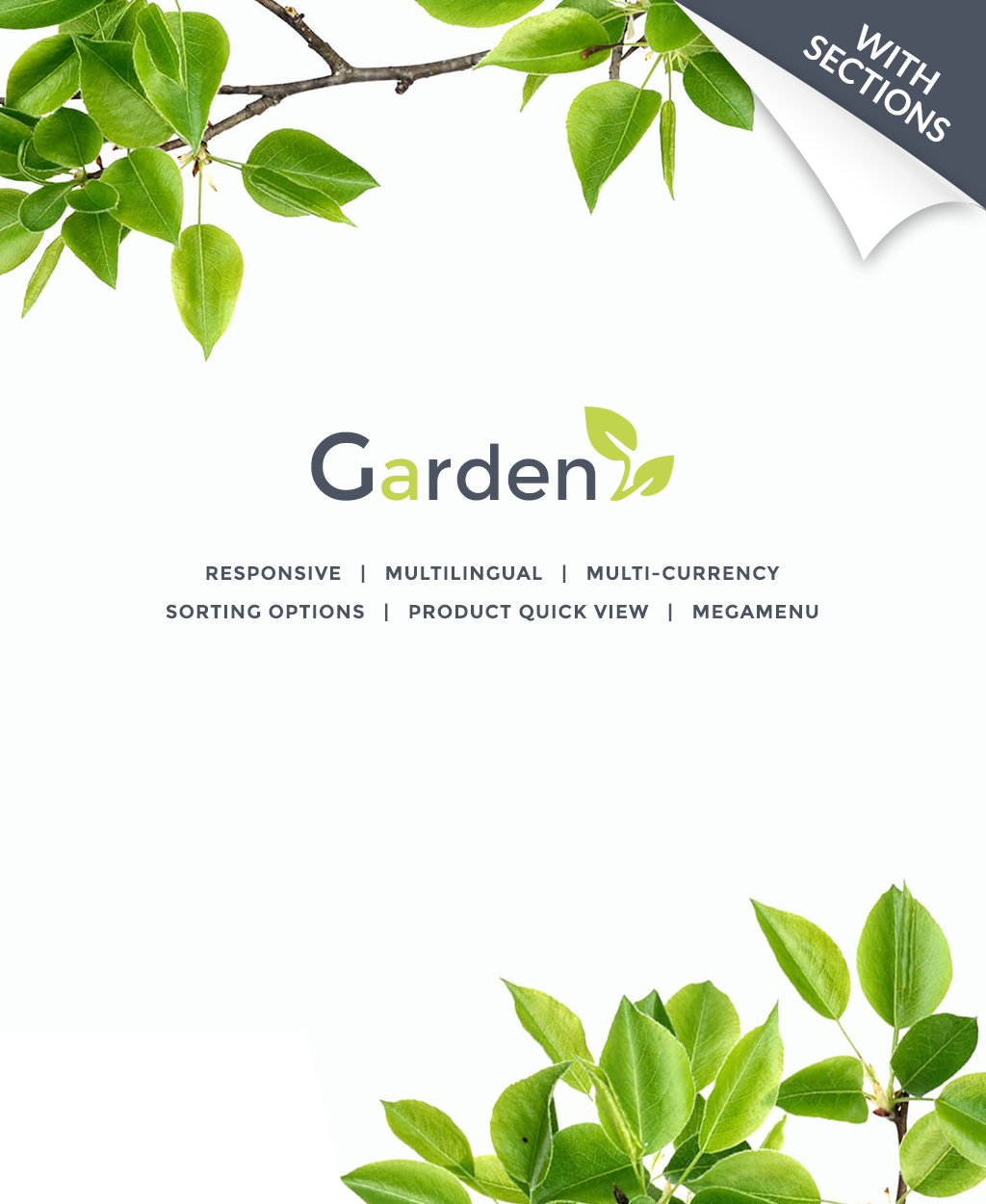 Thème Shopify adaptatif pour site de design de jardin #64035 - screenshot