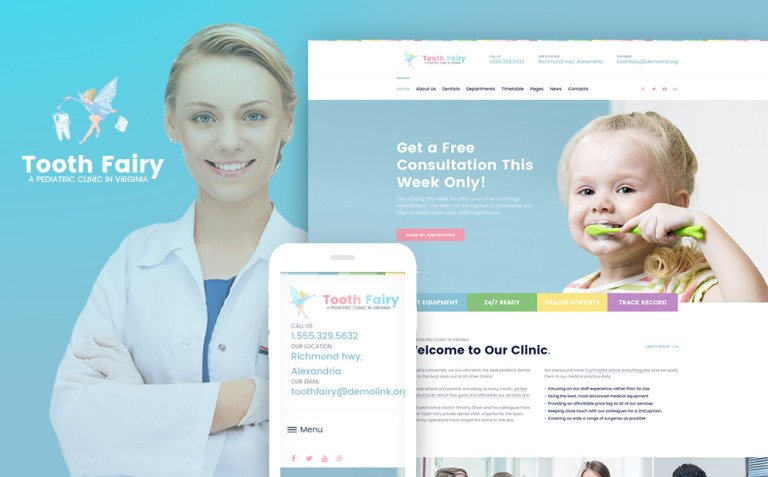 Tooth Fairy - Pediatric Dentistry WordPress Theme New Screenshots BIG