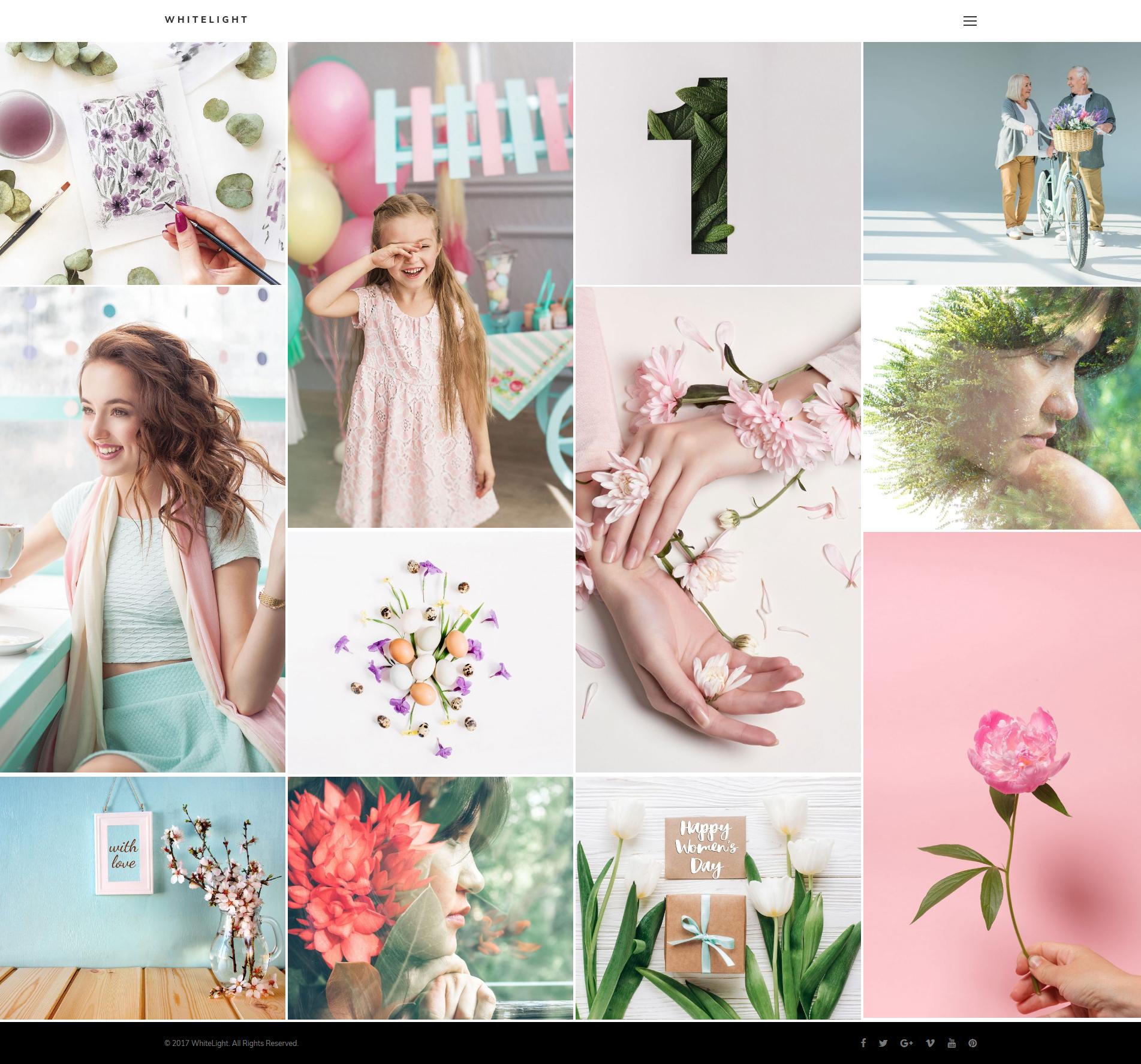 """WhiteLight - professional photographer portfolio"" - адаптивний WordPress шаблон №64037"