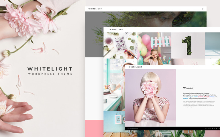 WhiteLight - professional photographer portfolio WordPress Theme New Screenshots BIG