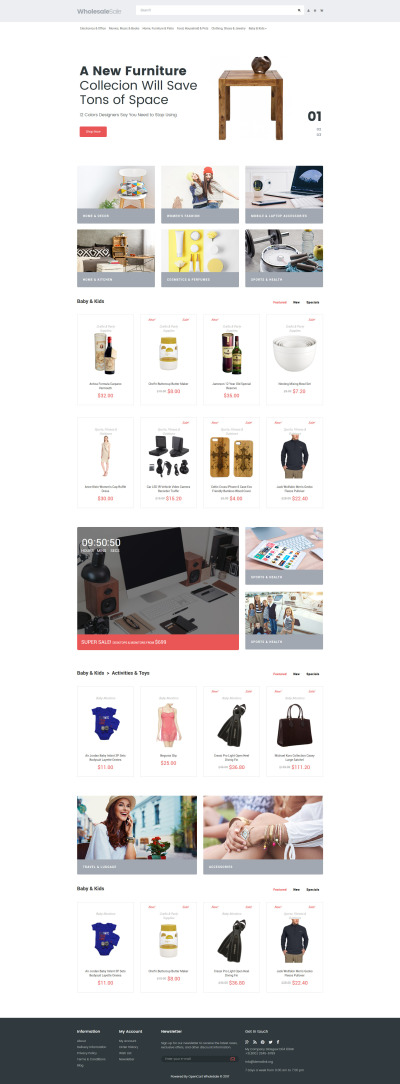 Wholesale Store Responsive OpenCart Template #64073