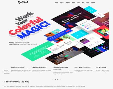 Spellbind - Designer Landing Page WordPress Theme WordPress Theme