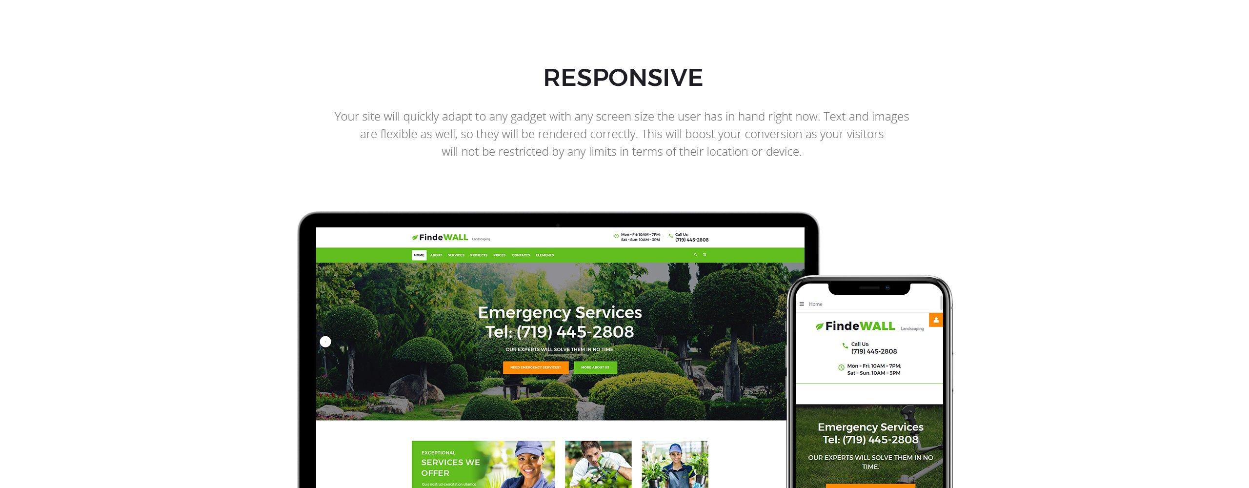 Findewall Garden  Responsive Joomla Template