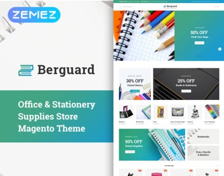 Berguard - Office & Stationery Supplies Magento Theme