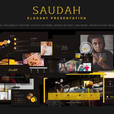 Preview image of PowerPoint Template - Saudah Elegant Presentation