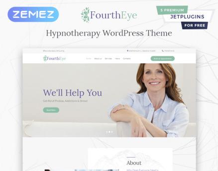Fourth Eye - Hypnotherapy WordPress Theme