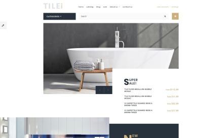 Tile & Stone Responsive OpenCart Template