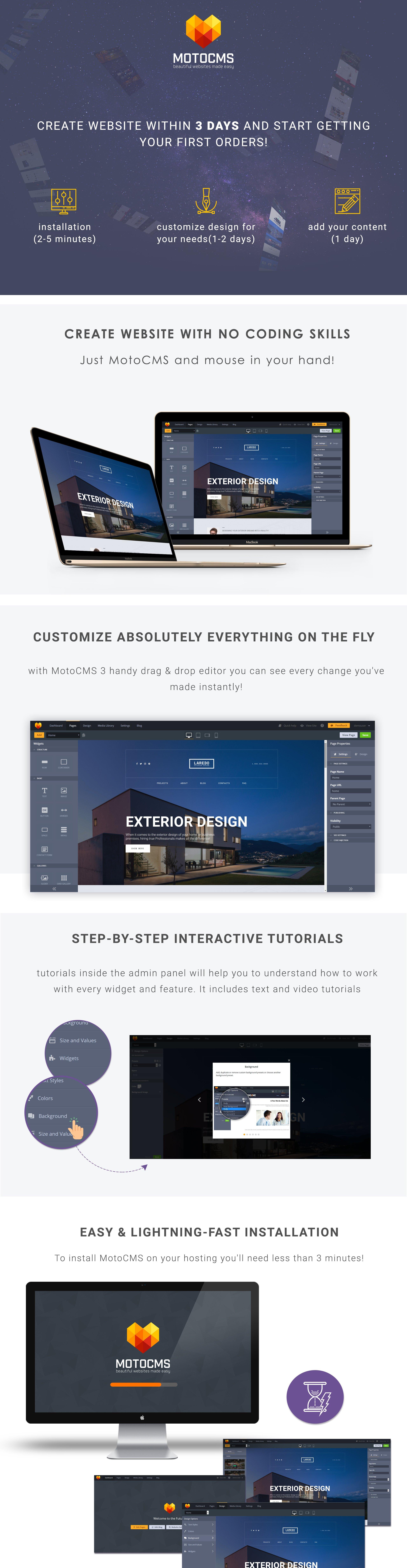 Laredo - Exterior Design Company Responsive Moto CMS 3 Template