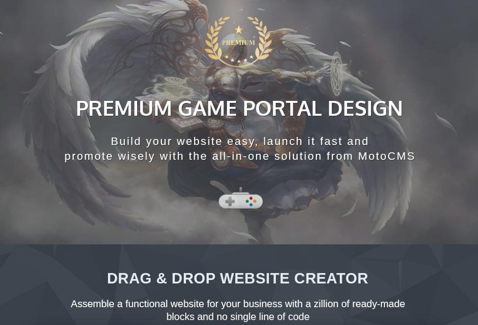 WorldPandaria - Game Portal Premium Moto CMS 3 Template