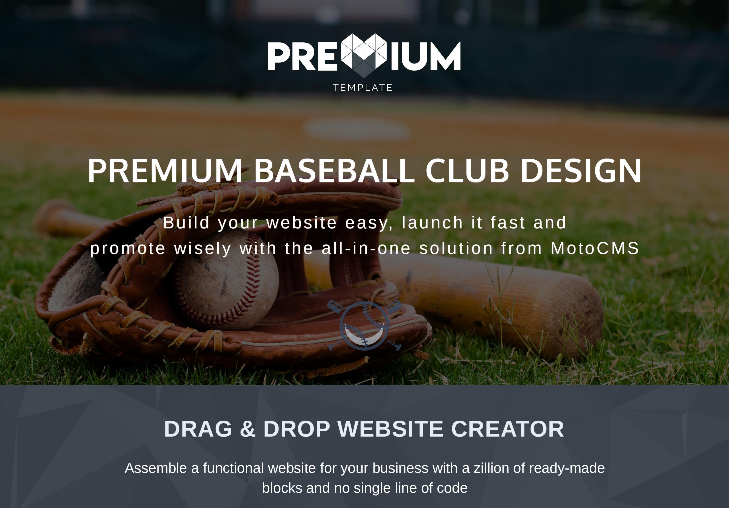 Fieldrun - Baseball Club Premium Moto CMS 3 Template