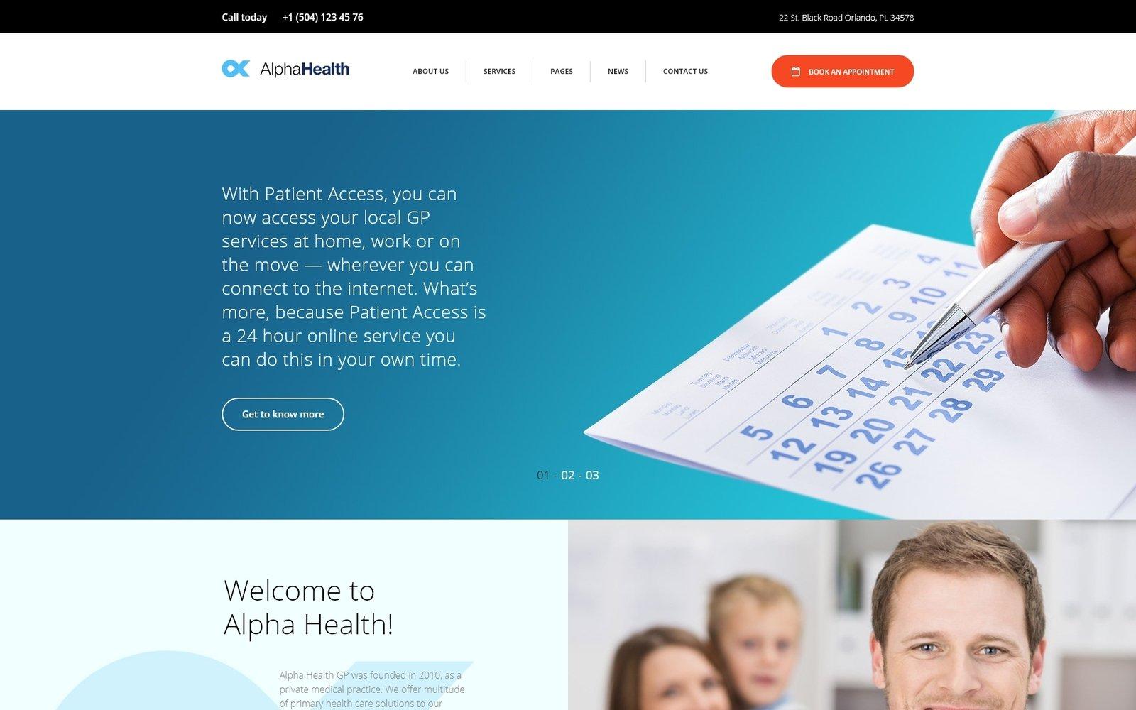 Адаптивный шаблон сайта на тему врач #64100